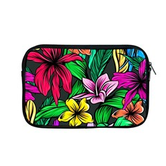Neon Hibiscus Apple Macbook Pro 13  Zipper Case