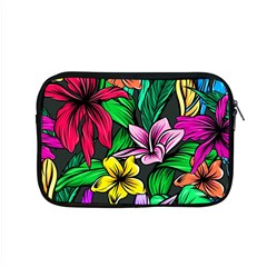 Neon Hibiscus Apple Macbook Pro 15  Zipper Case
