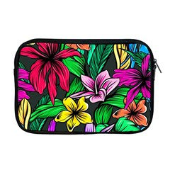 Neon Hibiscus Apple Macbook Pro 17  Zipper Case
