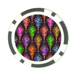 Abstract Background Colorful Leaves Purple Poker Chip Card Guard (10 Pack) by Alisyart