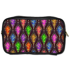 Abstract Background Colorful Leaves Purple Toiletries Bag (one Side) by Alisyart