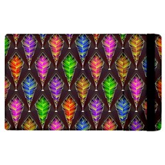 Abstract Background Colorful Leaves Purple Apple Ipad 2 Flip Case by Alisyart