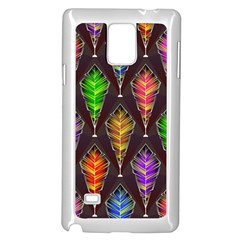 Abstract Background Colorful Leaves Purple Samsung Galaxy Note 4 Case (white)