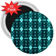 Background Plaid 3  Magnets (10 Pack)  by AnjaniArt