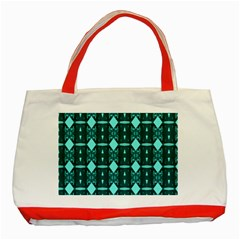 Background Plaid Classic Tote Bag (red) by AnjaniArt