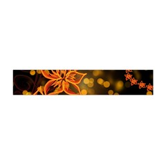 Flowers Background Bokeh Leaf Flano Scarf (mini) by Mariart