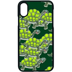 Seamless Turtle Green Apple Iphone Xs Seamless Case (black)