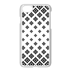 Black And White Tribal Apple Iphone 7 Seamless Case (white)
