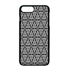 Black And White Filigree Apple Iphone 7 Plus Seamless Case (black) by retrotoomoderndesigns