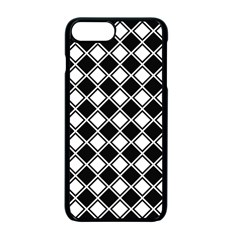 Black And White Diamonds Apple Iphone 7 Plus Seamless Case (black) by retrotoomoderndesigns