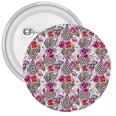 Flowers Geometric Pattern 3  Buttons by goljakoff