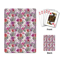 Flowers Geometric Pattern Playing Cards Single Design by goljakoff