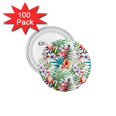 Rose Flamingo Pattern 1 75  Buttons (100 Pack)  by goljakoff