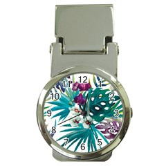 Tropical Flowers Money Clip Watches by goljakoff
