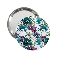 Tropical Flowers Pattern 2 25  Handbag Mirrors by goljakoff
