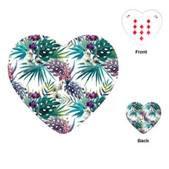 Tropical Flowers Pattern Playing Cards (heart) by goljakoff
