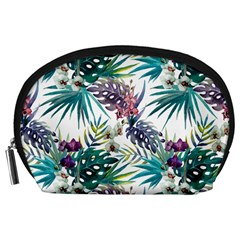 Tropical Flowers Pattern Accessory Pouch (large) by goljakoff