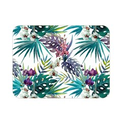 Tropical Flowers Pattern Double Sided Flano Blanket (mini)  by goljakoff