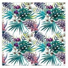 Tropical Flowers Pattern Large Satin Scarf (square) by goljakoff