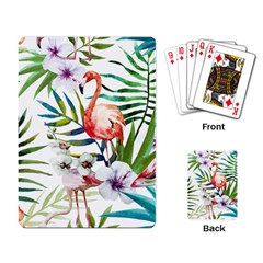 Rose Flamingo Playing Cards Single Design by goljakoff