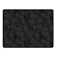 Hypnotic Black And White Double Sided Fleece Blanket (small)  by retrotoomoderndesigns