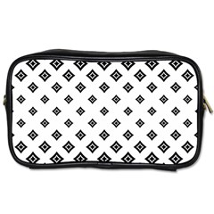 Black And White Tribal Toiletries Bag (two Sides) by retrotoomoderndesigns