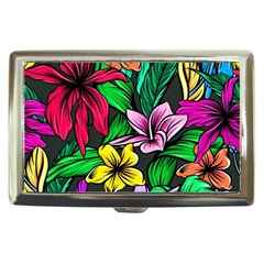 Neon Hibiscus Cigarette Money Case