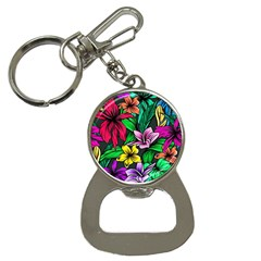 Neon Hibiscus Bottle Opener Key Chains