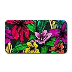 Neon Hibiscus Medium Bar Mats