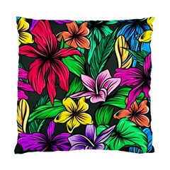 Neon Hibiscus Standard Cushion Case (two Sides)