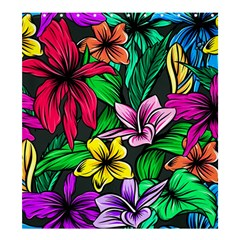 Neon Hibiscus Shower Curtain 66  X 72  (large)