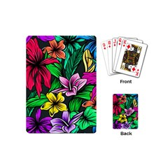 Neon Hibiscus Playing Cards (mini)