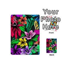 Neon Hibiscus Playing Cards 54 (mini)
