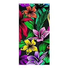 Neon Hibiscus Shower Curtain 36  X 72  (stall)
