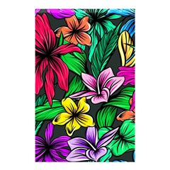 Neon Hibiscus Shower Curtain 48  X 72  (small)
