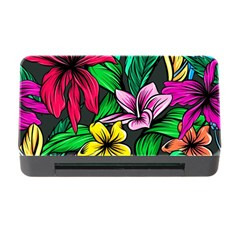 Neon Hibiscus Memory Card Reader With Cf