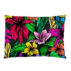 Neon Hibiscus Pillow Case (two Sides)