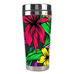 Neon Hibiscus Stainless Steel Travel Tumblers