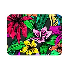 Neon Hibiscus Double Sided Flano Blanket (mini)