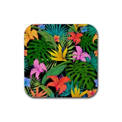Tropical Adventure Rubber Square Coaster (4 Pack)