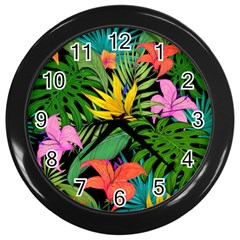 Tropical Adventure Wall Clock (black)
