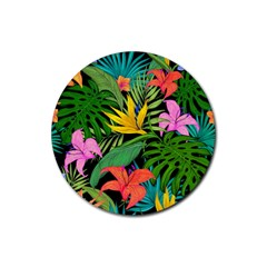 Tropical Adventure Rubber Round Coaster (4 Pack)