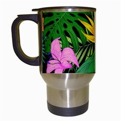 Tropical Adventure Travel Mugs (white) by retrotoomoderndesigns