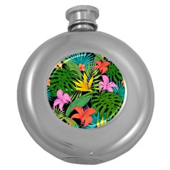 Tropical Adventure Round Hip Flask (5 Oz)