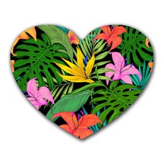 Tropical Adventure Heart Mousepads