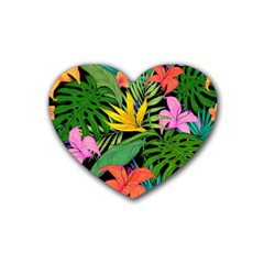 Tropical Adventure Heart Coaster (4 Pack)