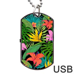 Tropical Adventure Dog Tag Usb Flash (two Sides)