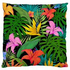 Tropical Adventure Large Cushion Case (one Side)