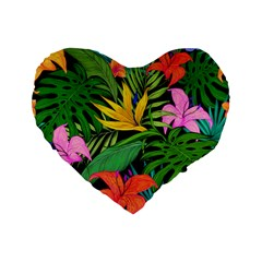 Tropical Adventure Standard 16  Premium Heart Shape Cushions