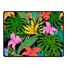 Tropical Adventure Double Sided Fleece Blanket (small)